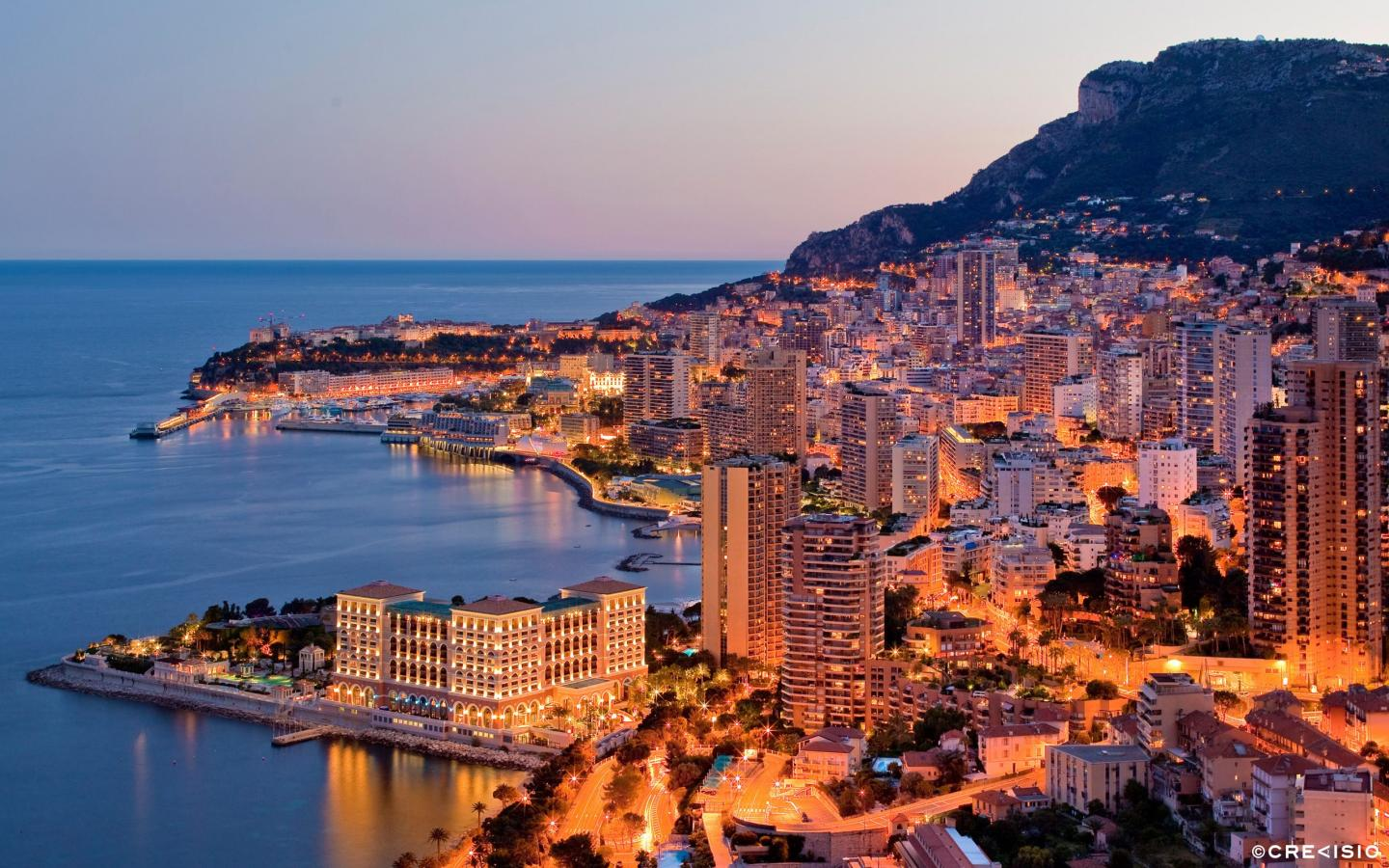 Warm City Lights in Monaco by Crevisio