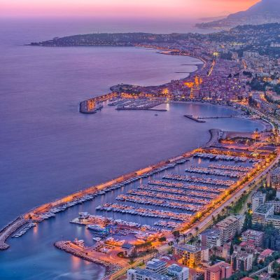 Menton Twilight by Crevisio