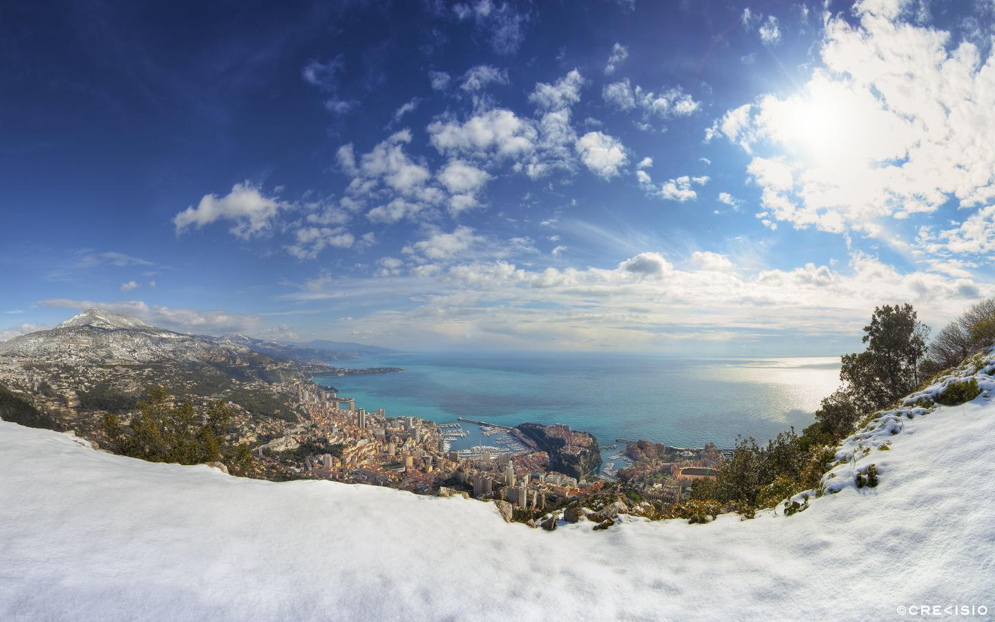Monaco in Winter by Crevisio