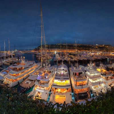 Monaco Yacht Show Port Panorama by Crevisio