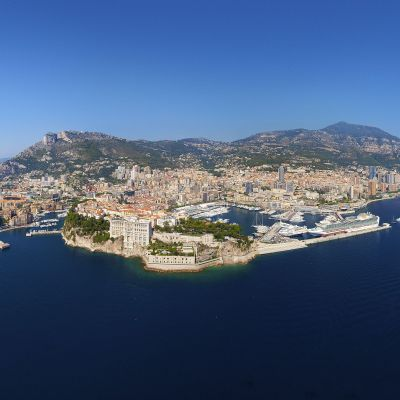 Birds Eye over Monaco by Crevisio