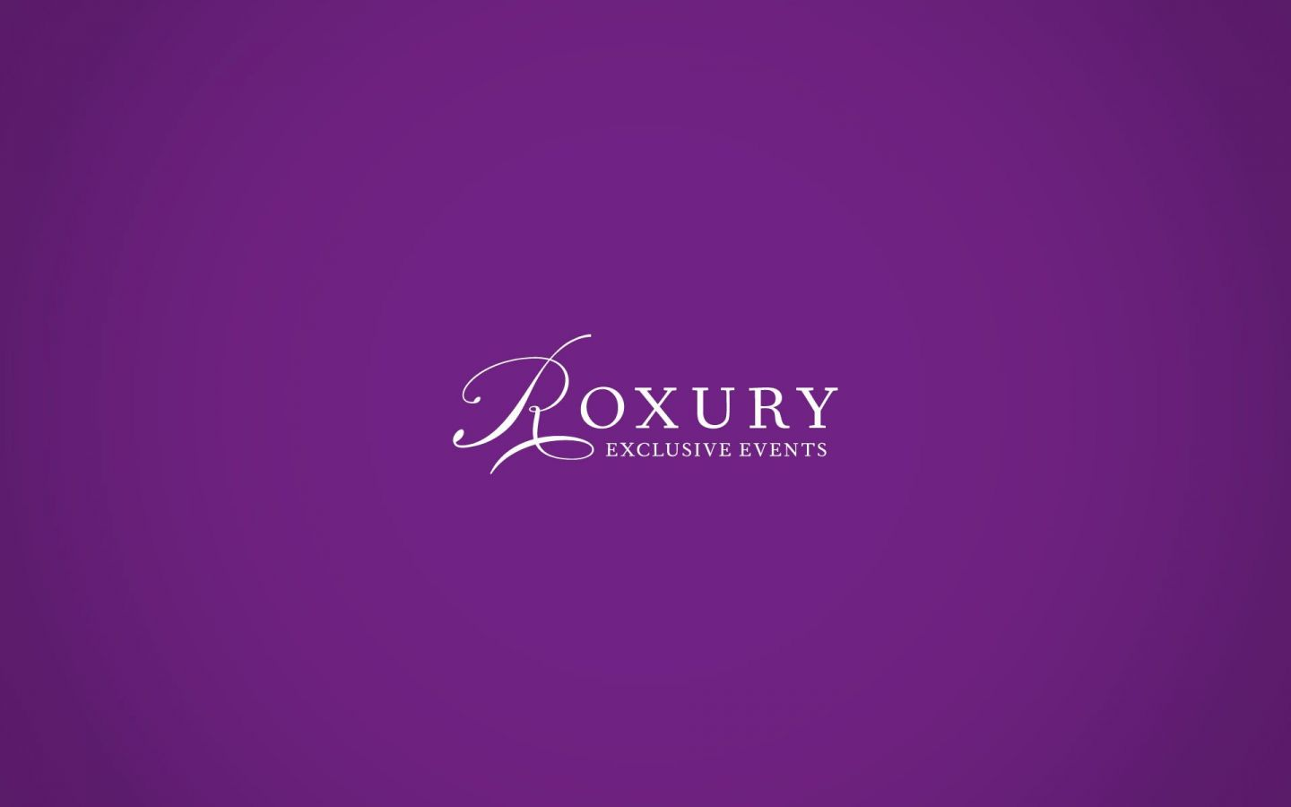 Roxury Exclusive Events Branding Project by Crevisio
