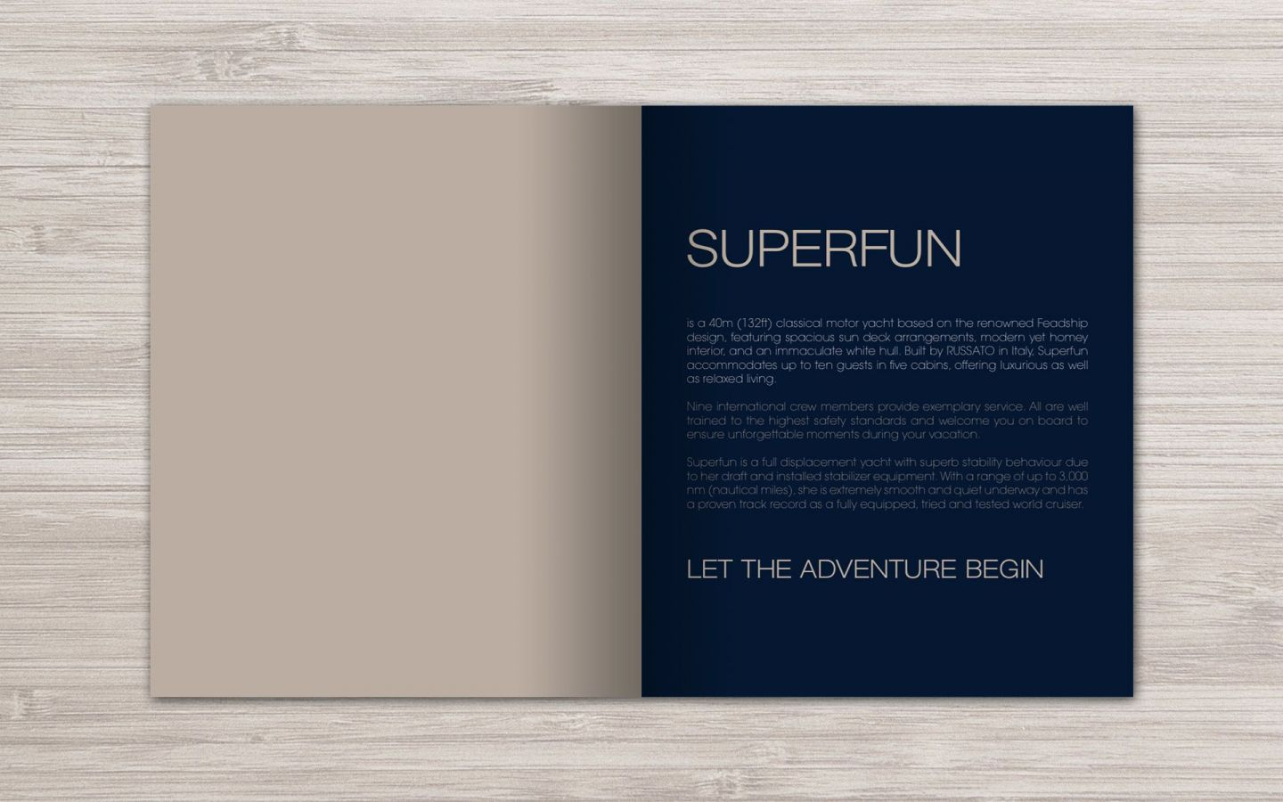 Superfun Motor Yacht Branding Project by Crevisio
