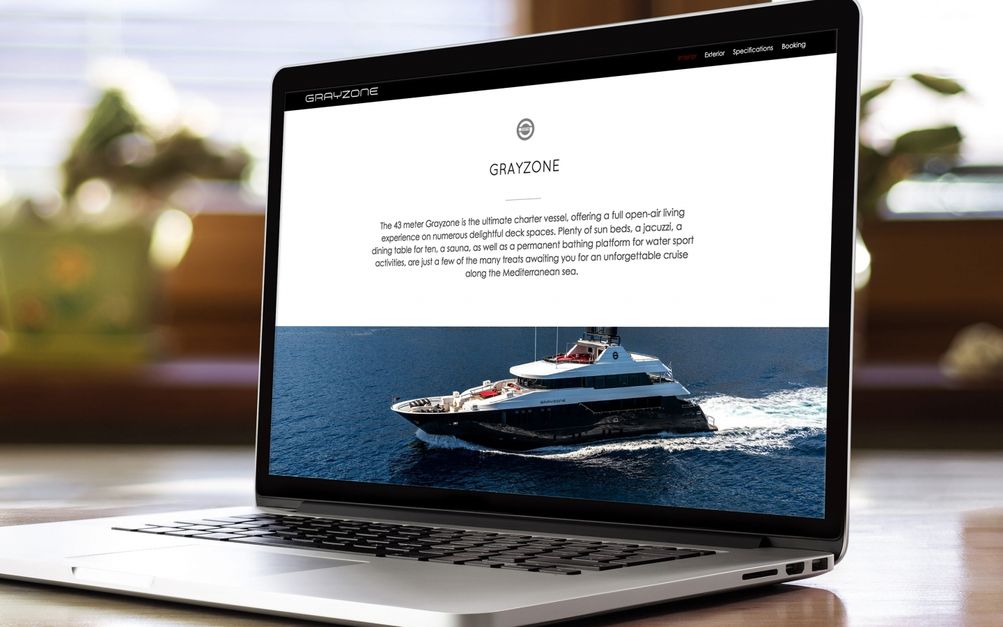 Grayzone Motor Yacht Branding Project by Crevisio