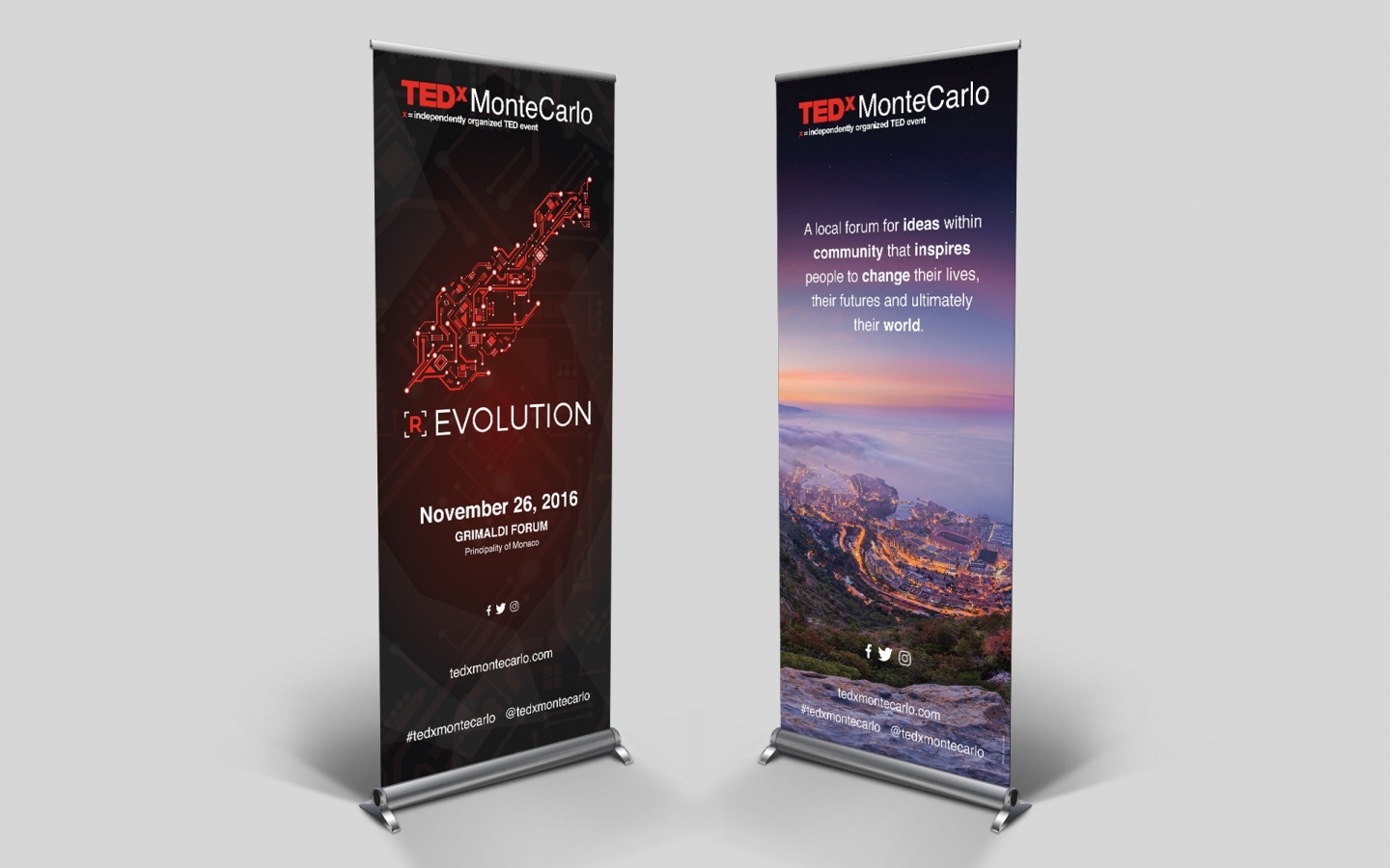 TEDxMonteCarlo 2016 Branding Project by Crevisio
