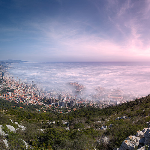 Spring Fog over Monaco by Crevisio