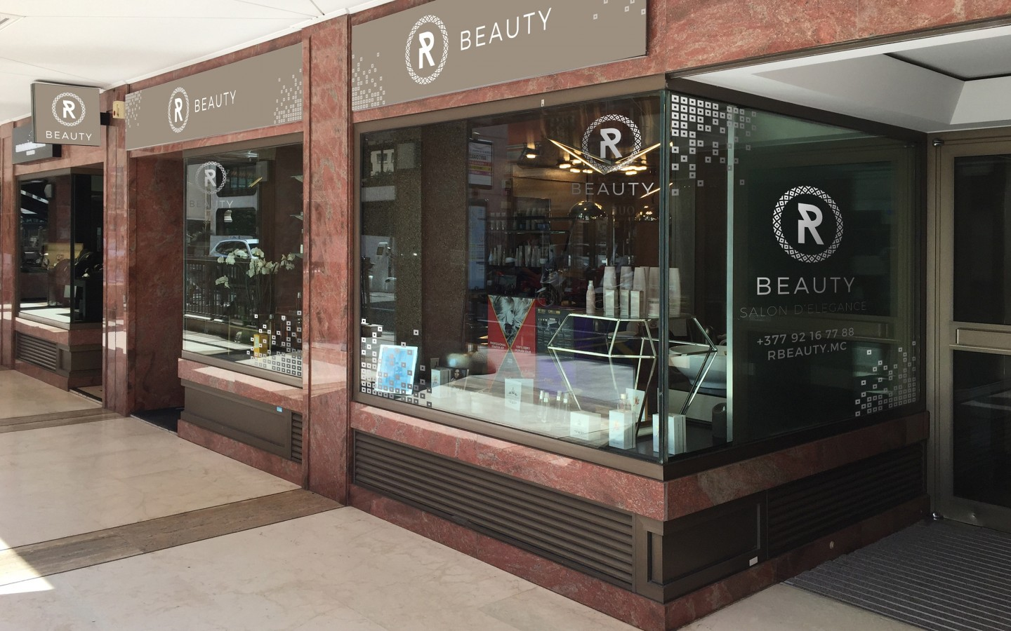 RBeauty Hair Salon Monaco Branding Project by Crevisio