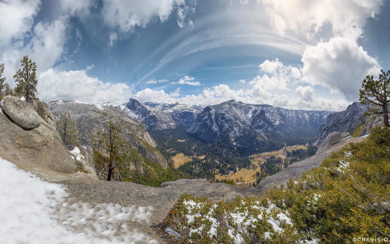 Sierra Point Yosemite Panorama by Crevisio