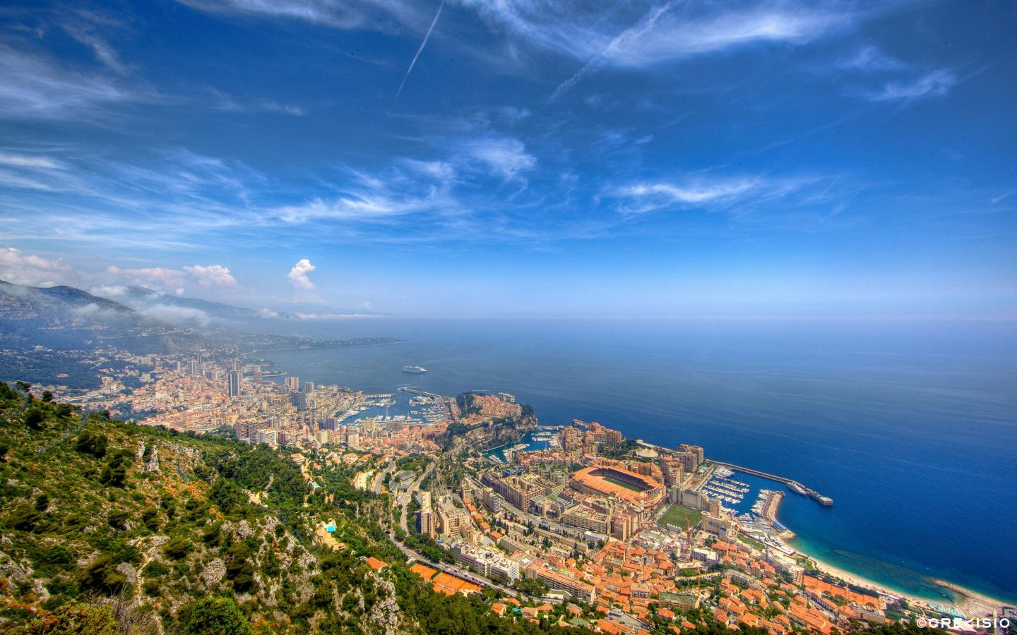 Monaco Blue Sky by Crevisio