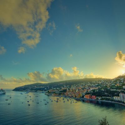 Villefranche Sur Mer Sunset by Crevisio