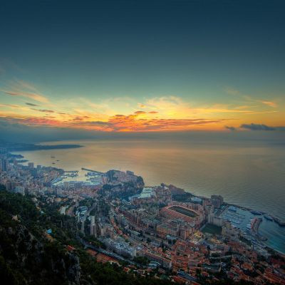 Principality of Monaco Sunrise by Crevisio
