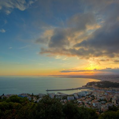 Sunset Over Nice by Crevisio
