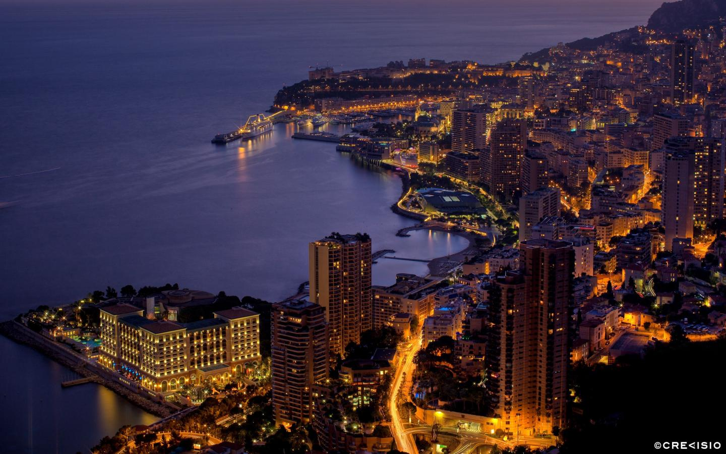 Evening Lights Monaco by Crevisio
