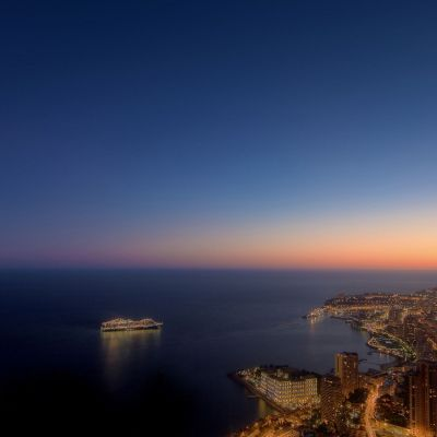 Monaco Dreamy Sunset by Crevisio