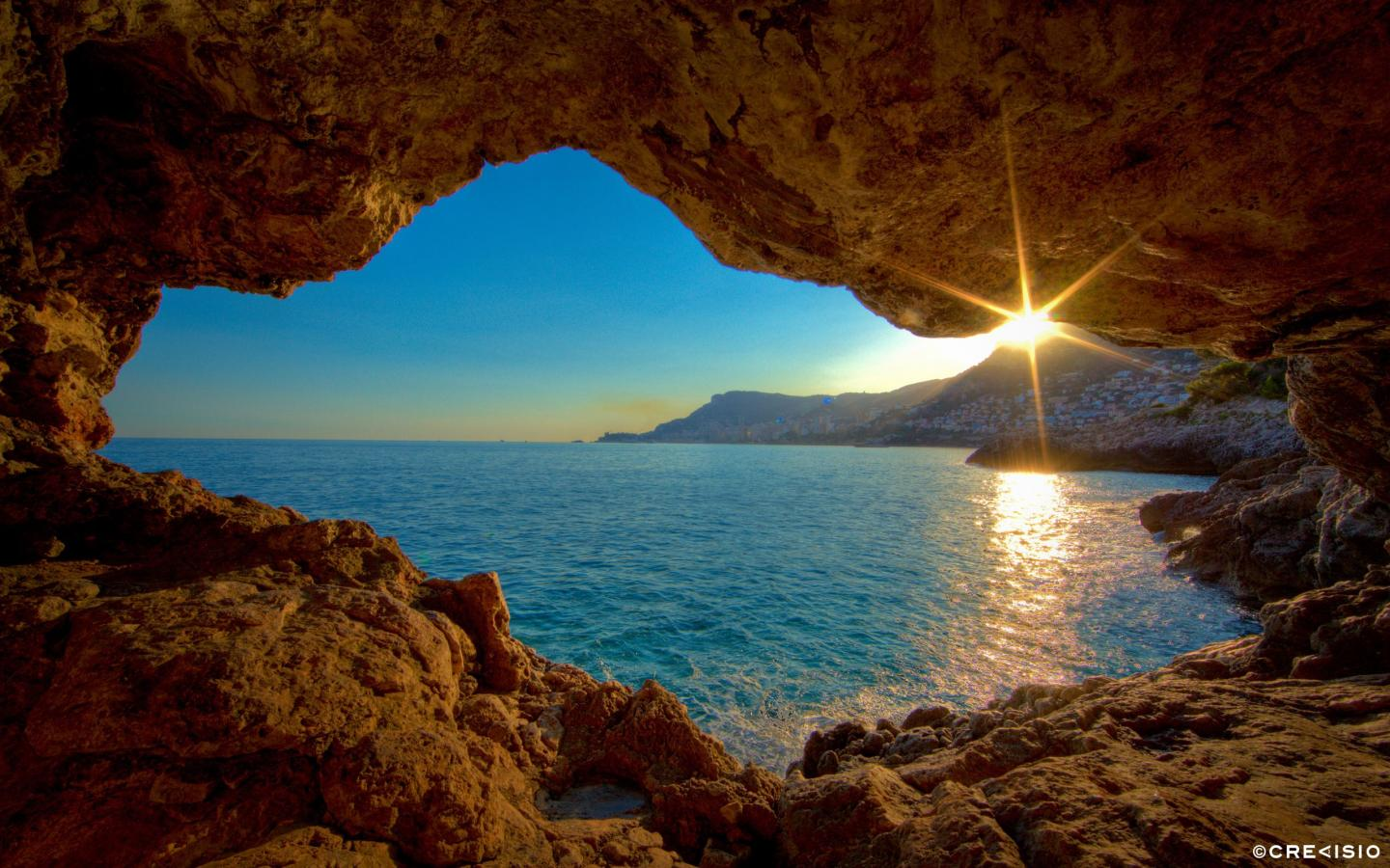 Cave Sunset by Crevisio