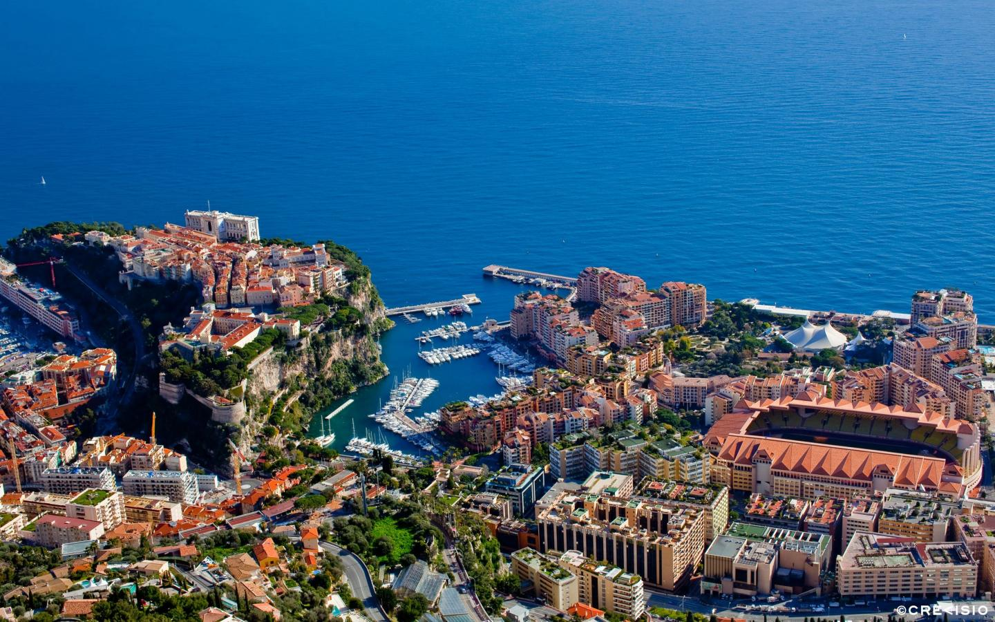 Fontvieille From Above by Crevisio